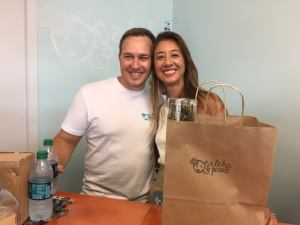 Owner Paulla (with husband, Kris) Speegle's dream of opening her own pet boutique has come true!