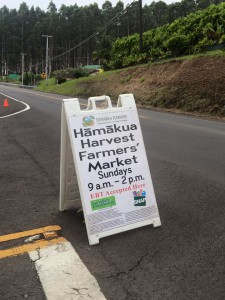 The market entrance is right off the highway as you enter downtown Honokaa from Hilo side.