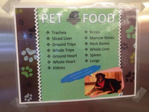 JJs Pet Food sign